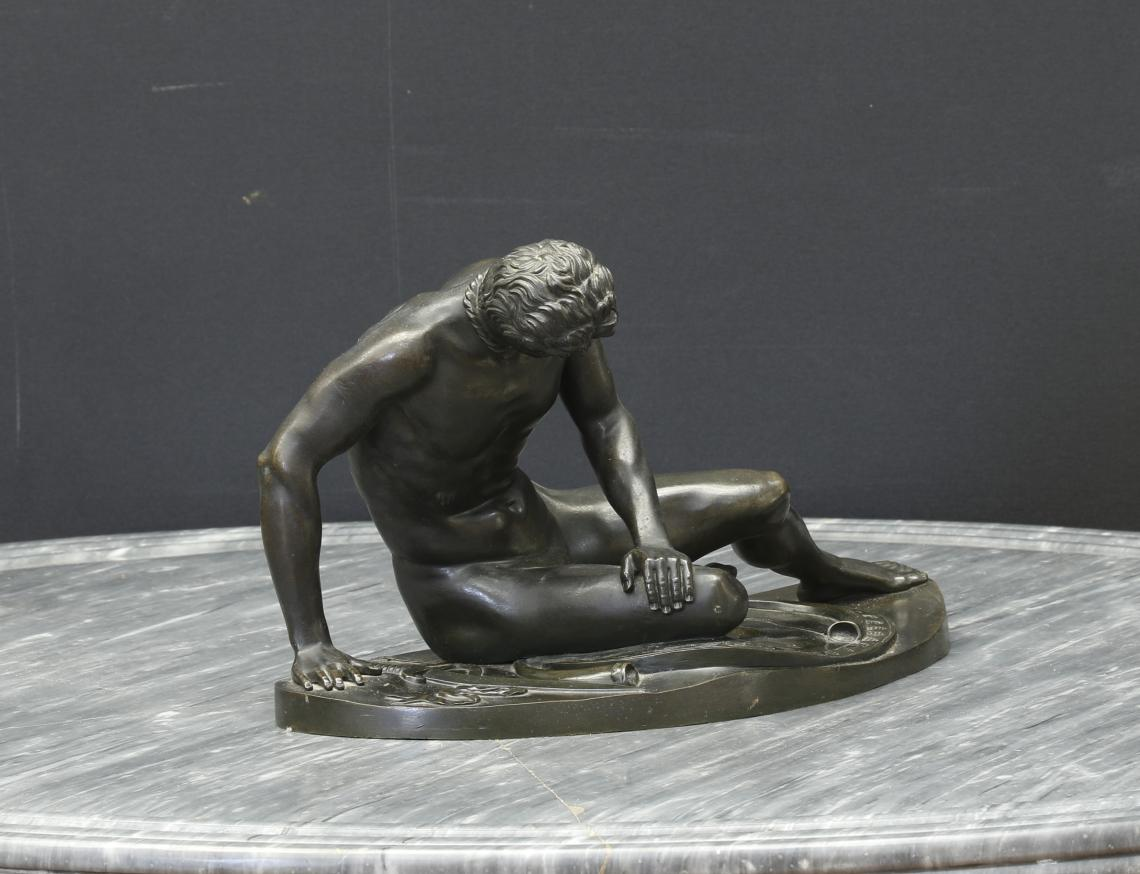 Bronze Casting of Nude Man