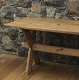 A Cross-Based Nordic Pine Rustic Table
