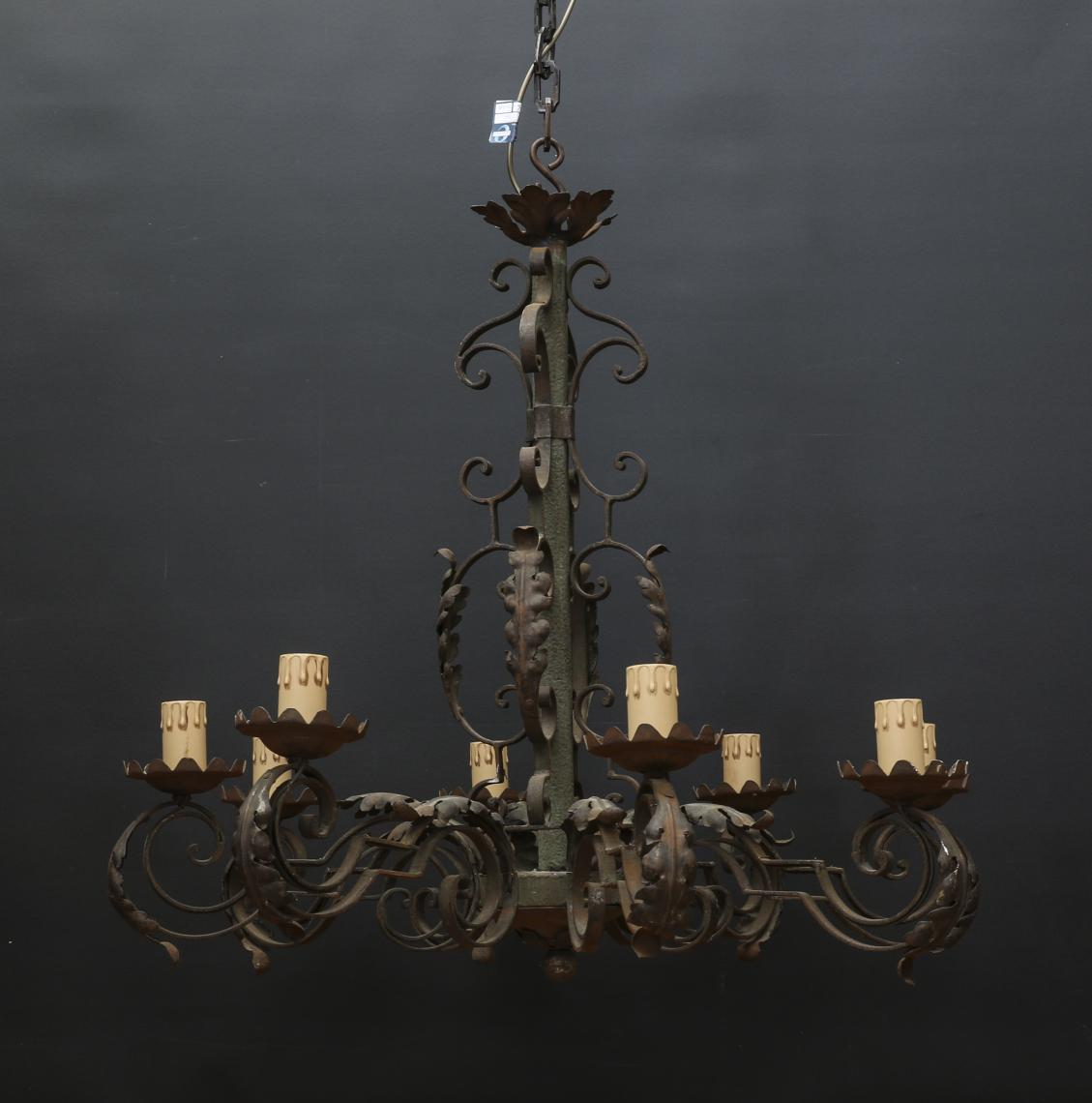 Rustic 8 Light Chandelier