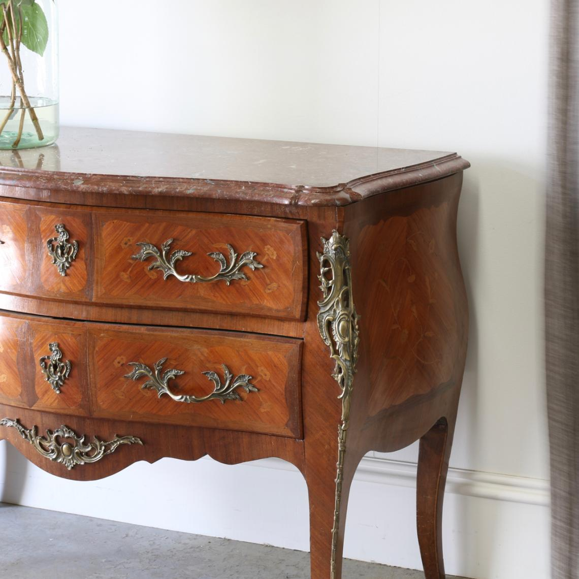 Marble-Topped French Commode