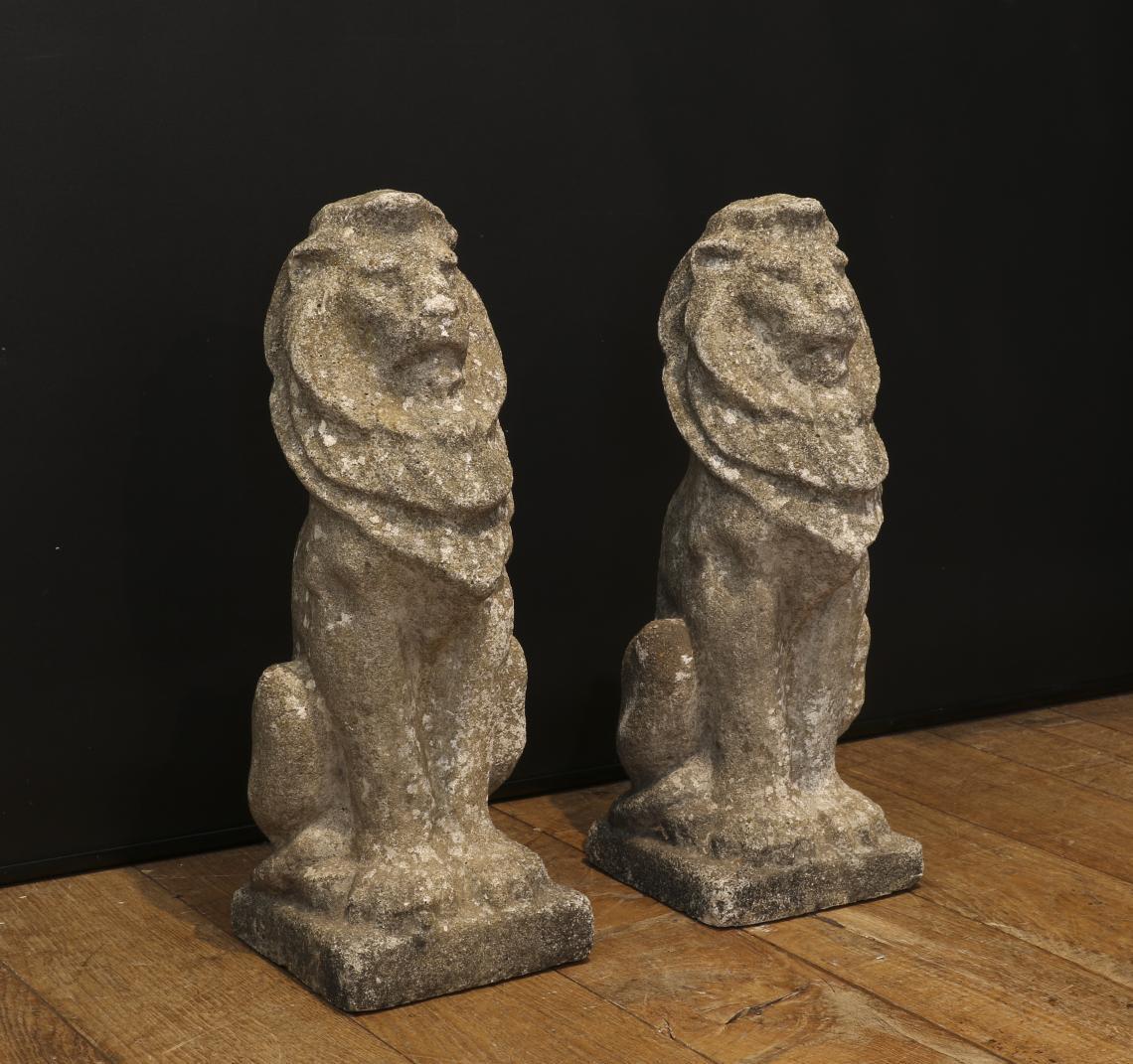 Pair of Concrete Lions