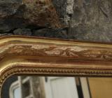 Louis Philippe Period Engraved and Water-Gilded Mirror