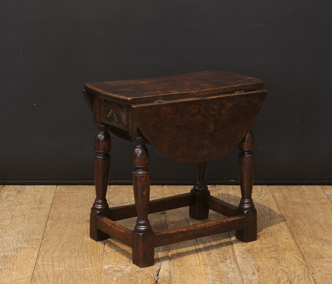 Jointed Stool with Drop Leaf Sides