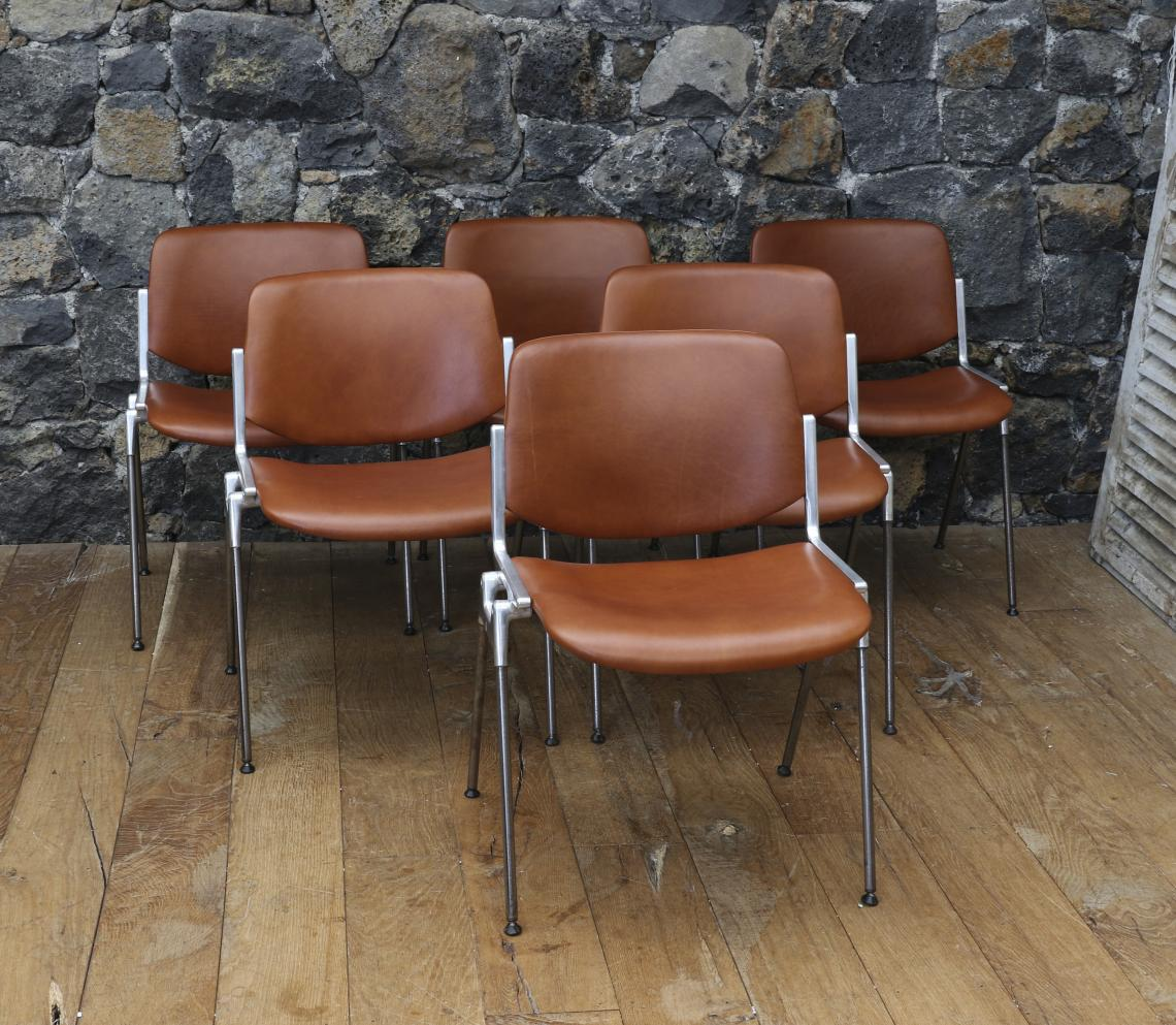 Set of 6 Castelli Chairs