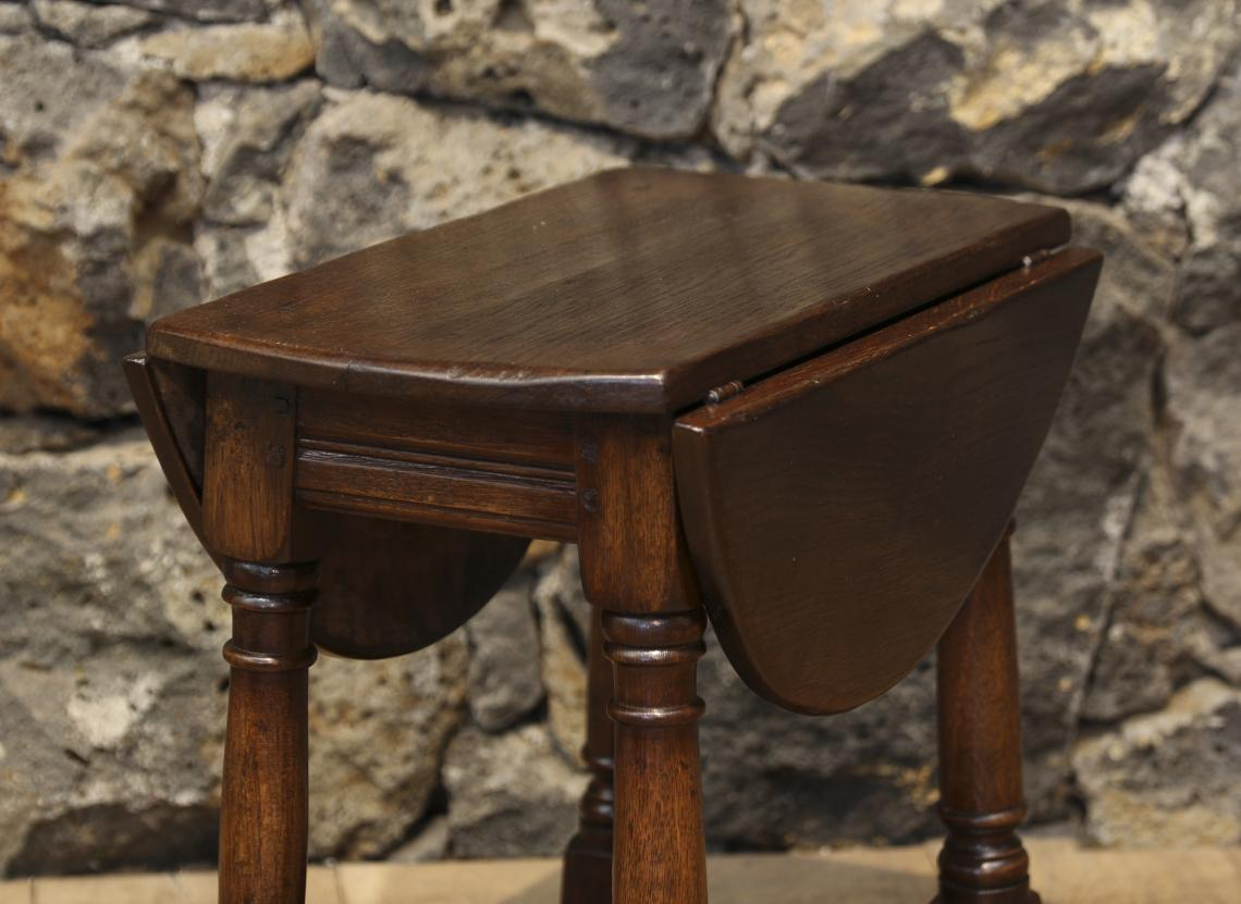 English Oak Jointed Miniature Drop Leaf Table