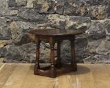109-73 - English Oak Jointed Miniature Drop Leaf Table