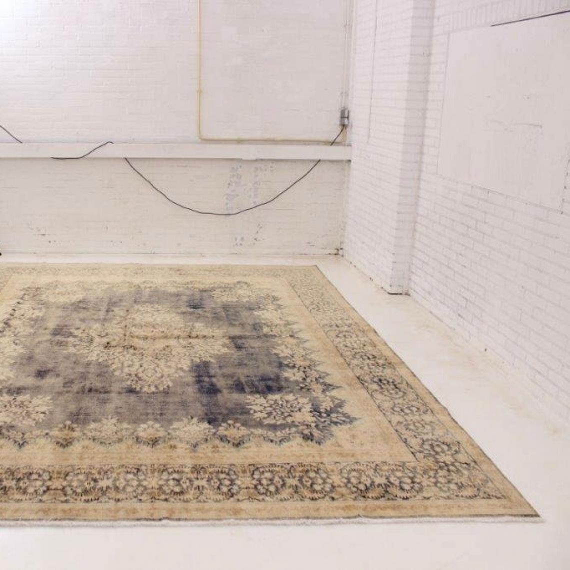 Distressed Persian Rug