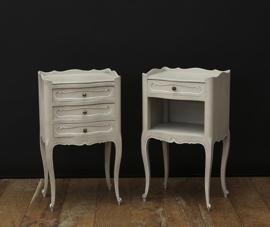 109-88 - Pair of White Bedside Tables