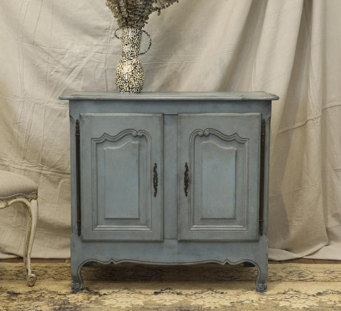 110-16 - Nordic Blue Small French Dresser Base or buffet