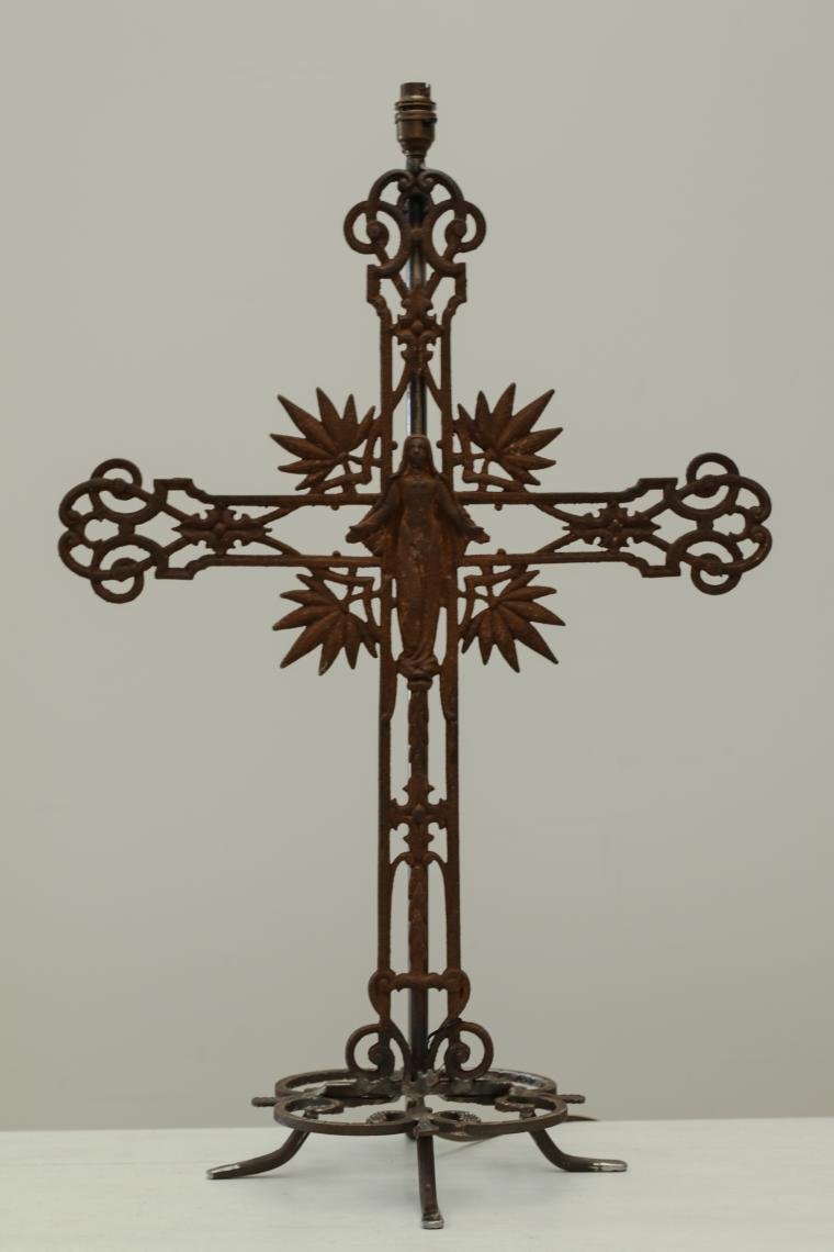 Iron Cross Lamp