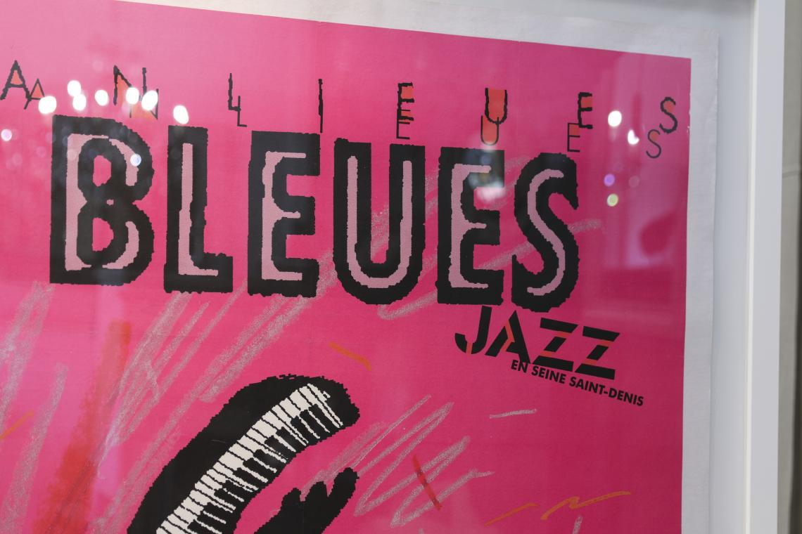 Bleues Jazz Wall Poster