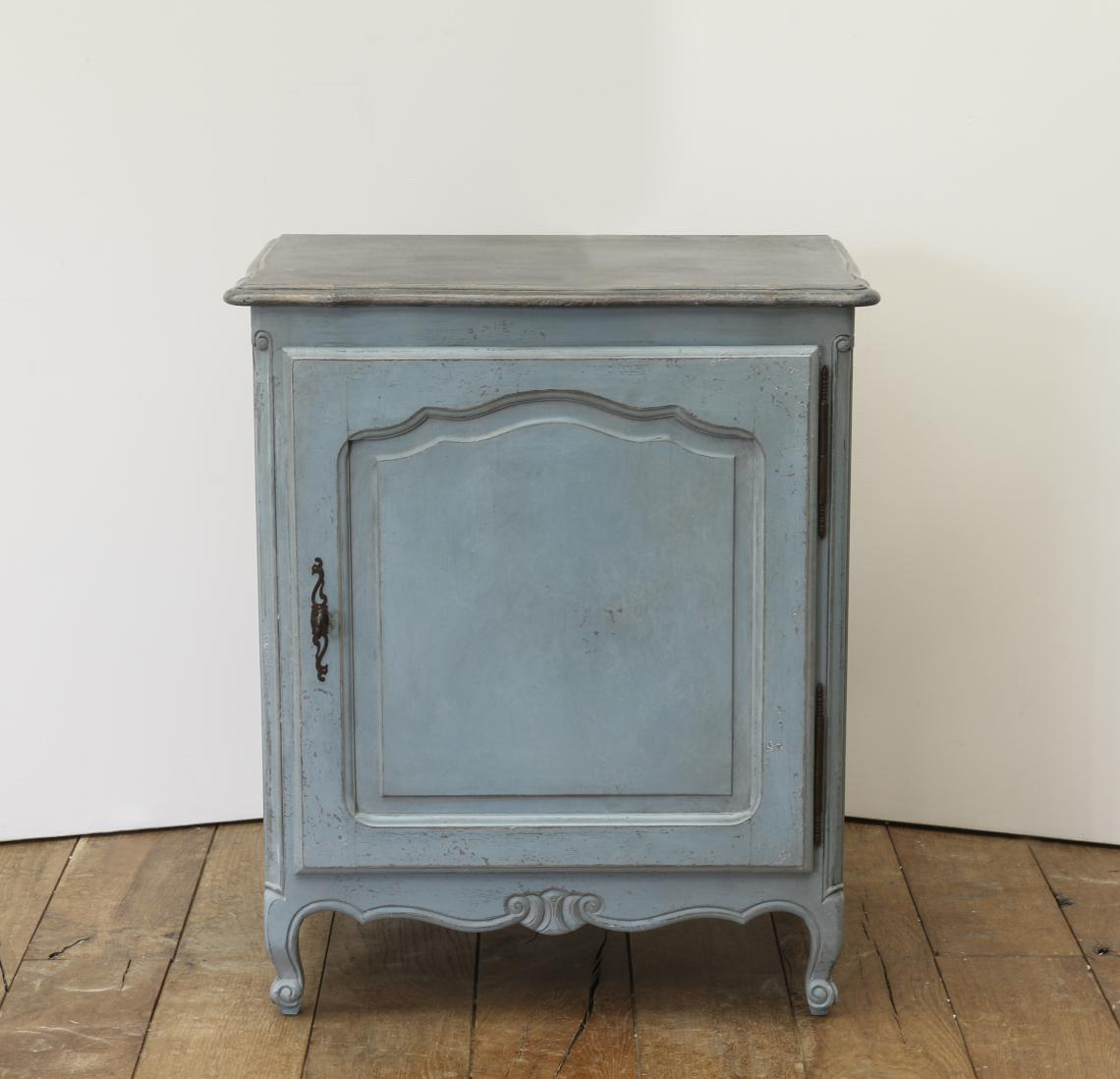 110-33 - Small Painted Blue Cupboard