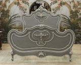 110-37 - Painted Carved Bed