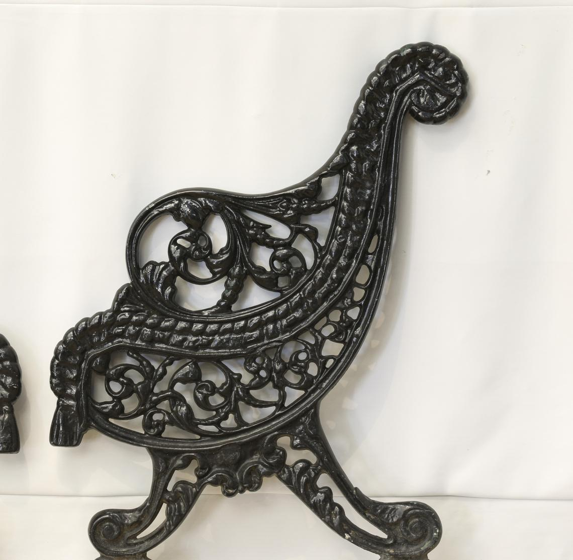 Black Cast Iron Bench Ends