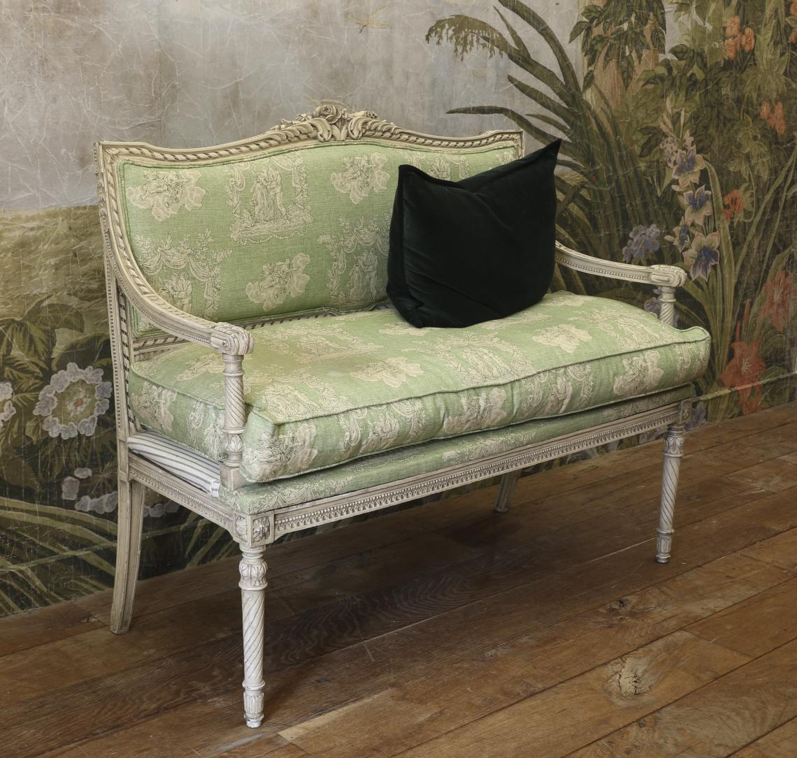 Green 2 Seater Armchair
