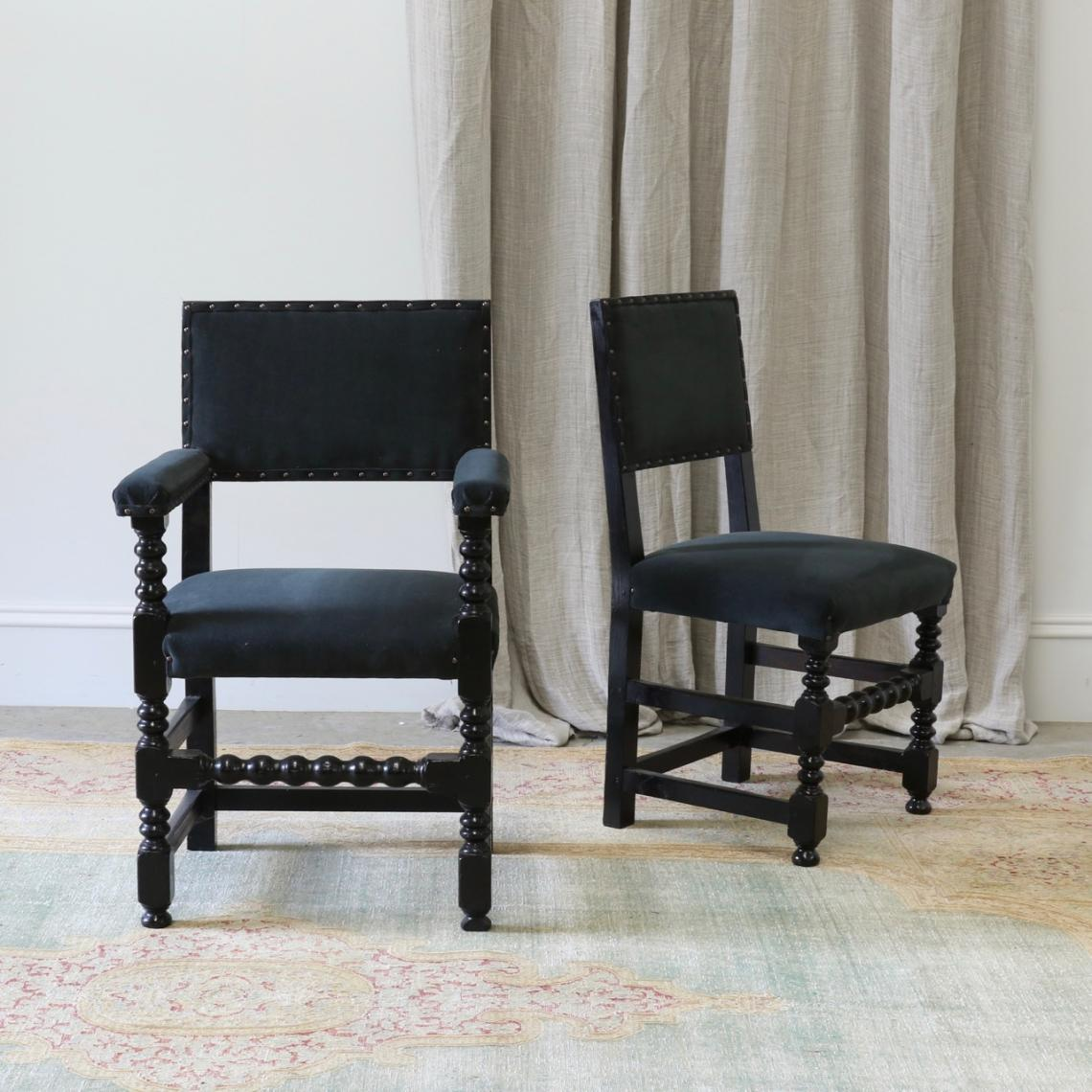 Set of 8 Cromwellian Style Dining Chairs