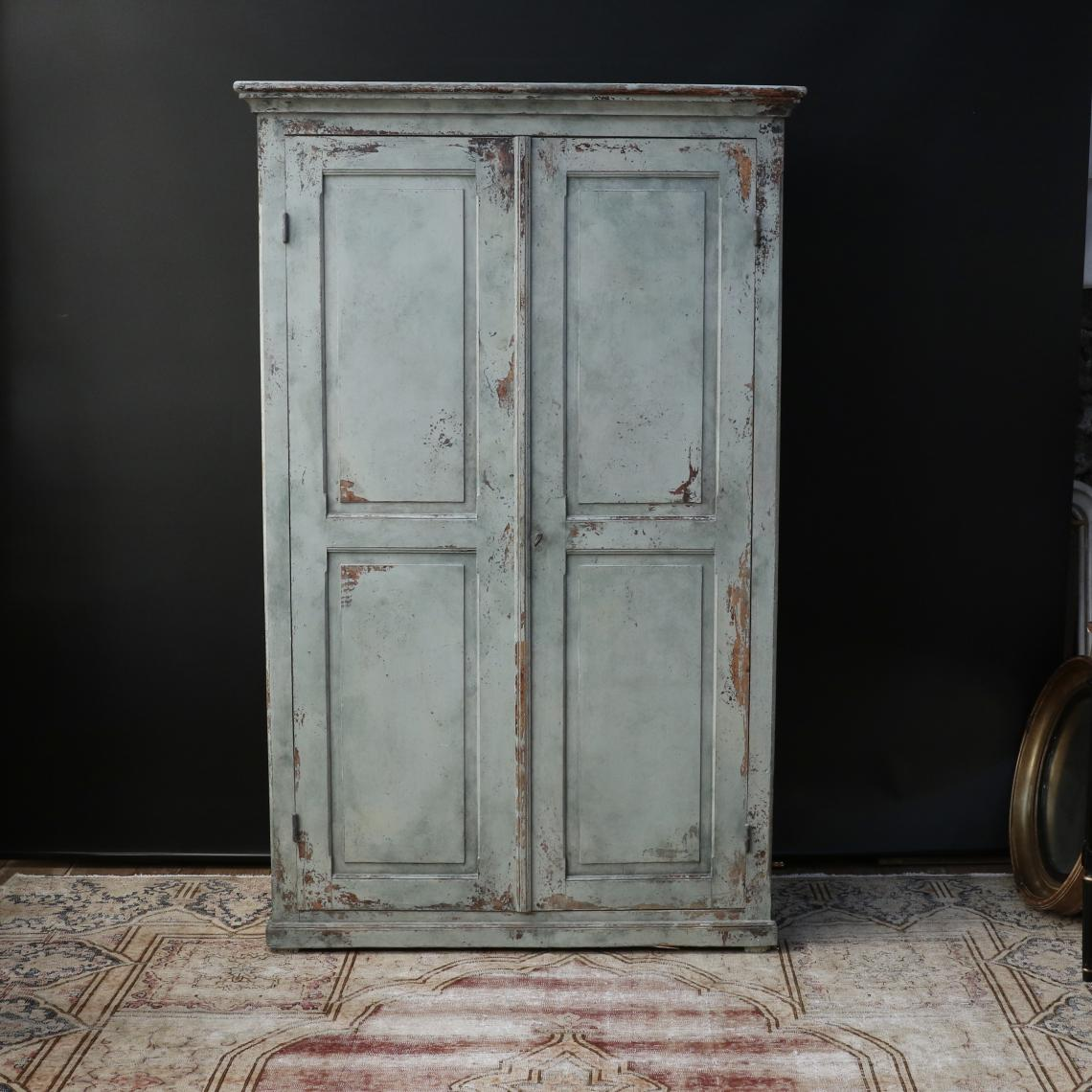 111-22 - French Painted Cupboard