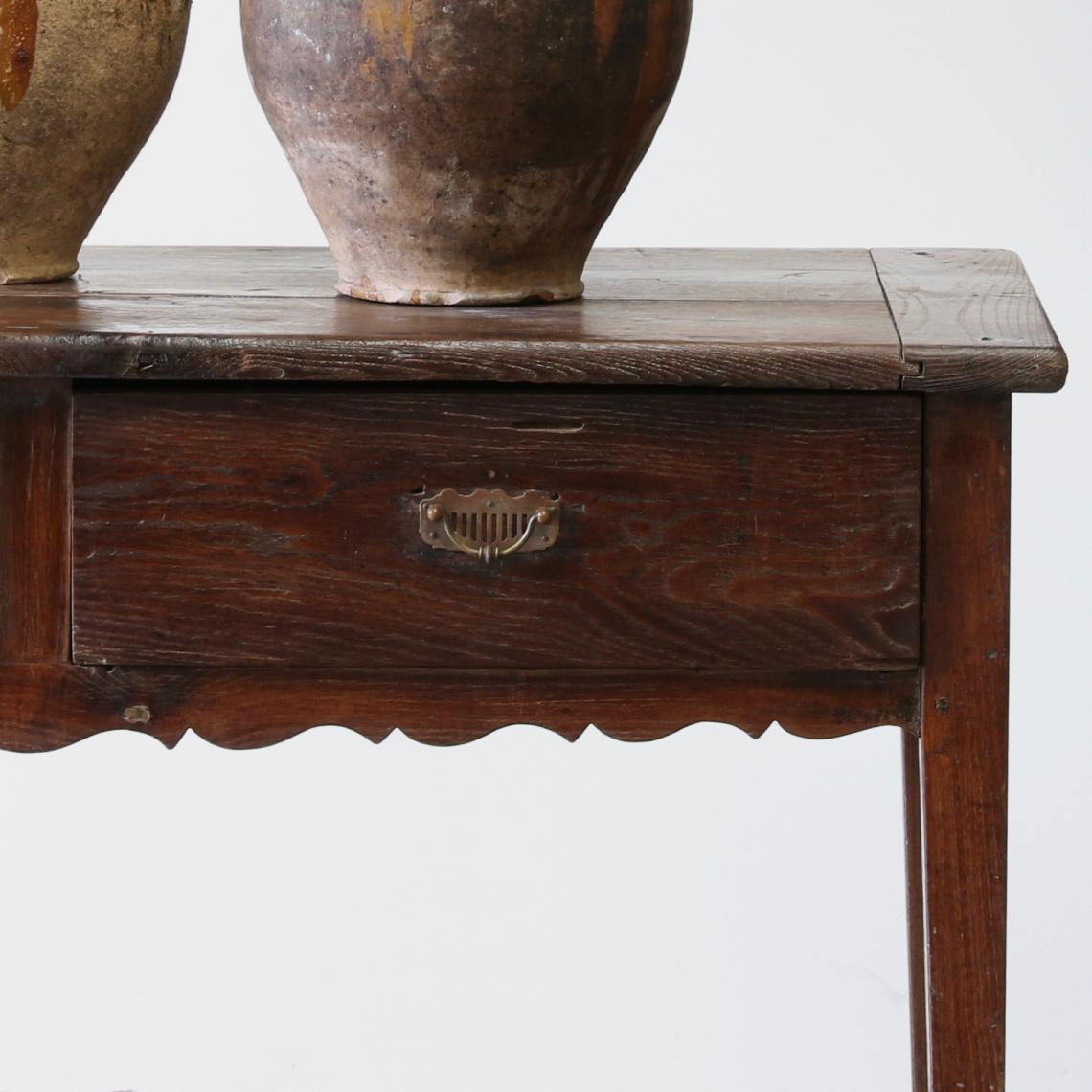 French Two Drawer Side Table