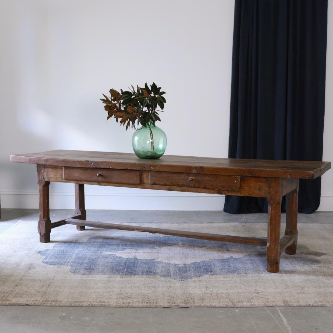 French Elm Console Table