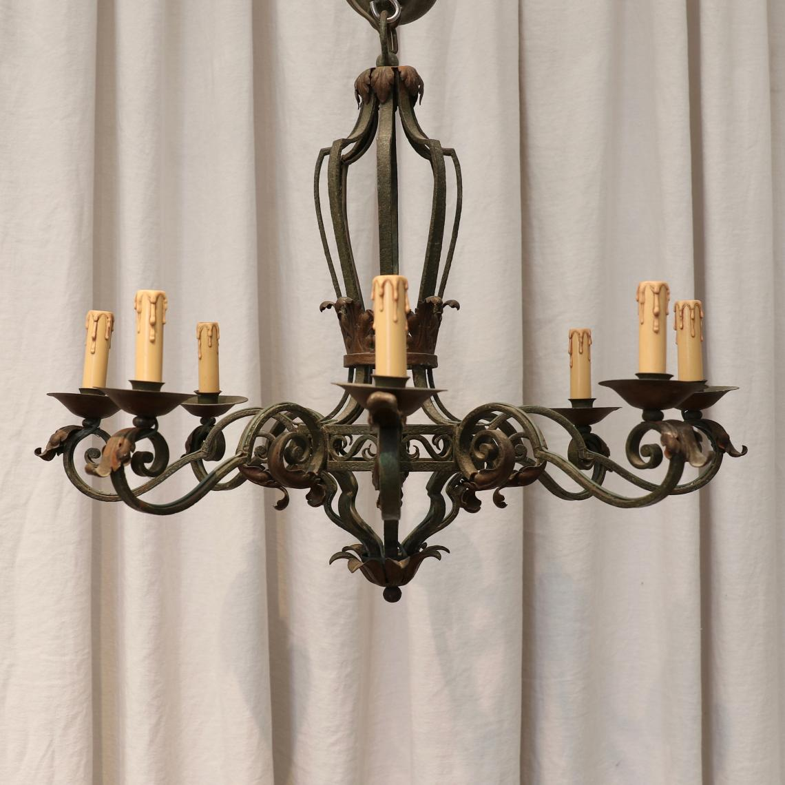 112-45 - Rustic Eight Light Chandelier