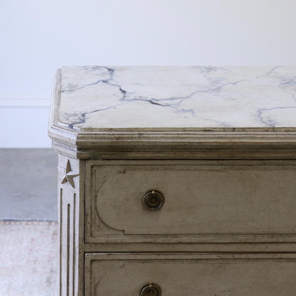 Pair of Swedish Commodes / Gustavian Grey