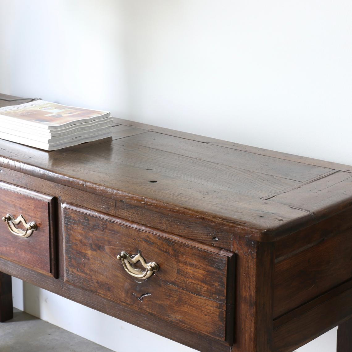 French Three Drawer Side Table