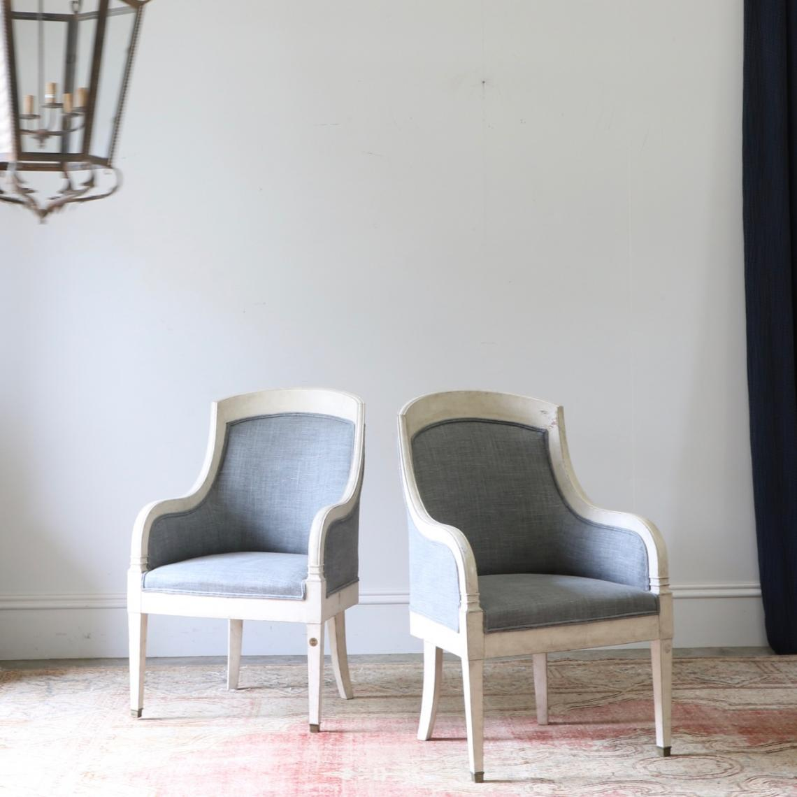 116-88 - Pair of Gustavian Chairs