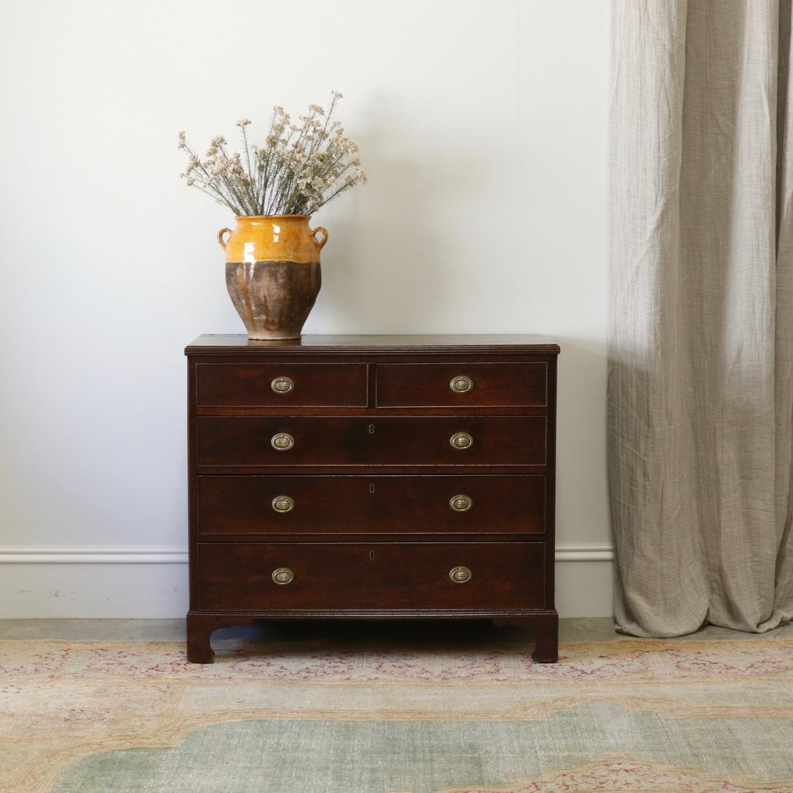 113-68 - Georgian Oak Chest of Drawers