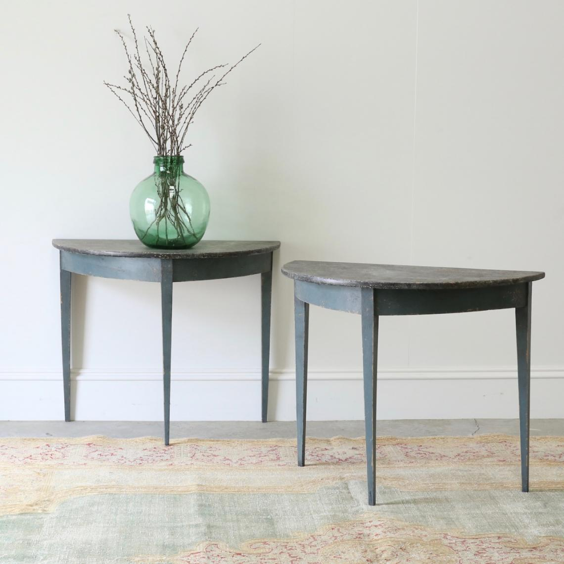 113-43 - Demilune Console Tables