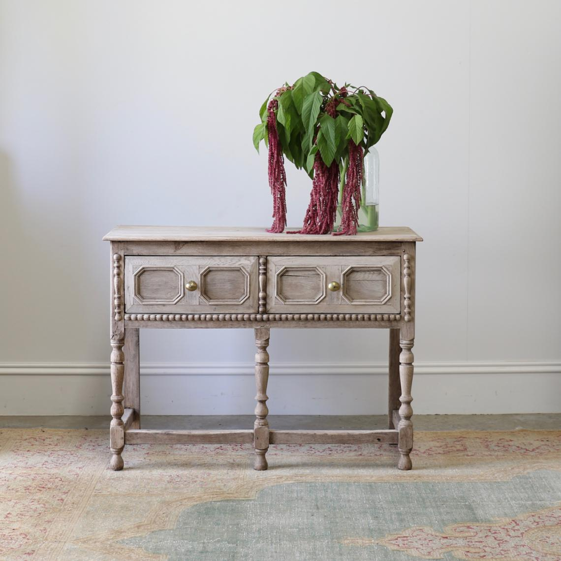 114-35 - Jacobean Two Drawer Side Table