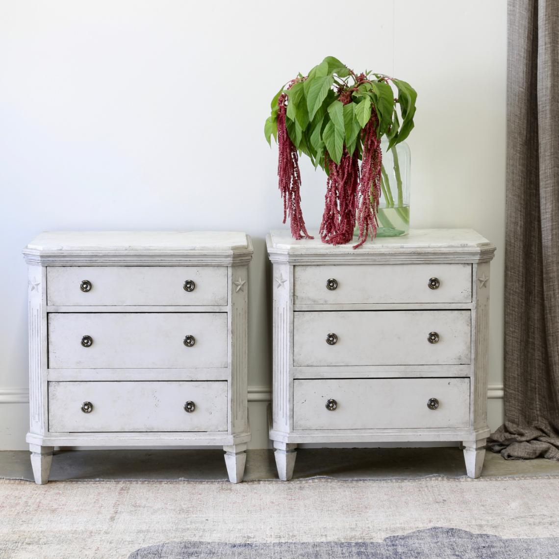 114-40 - Pair of Swedish Commodes