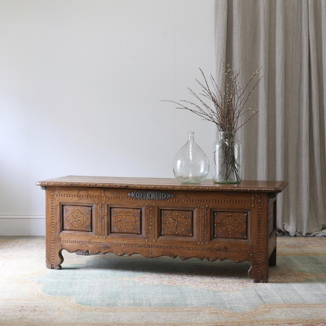 114-93 - French Walnut Wedding Chest