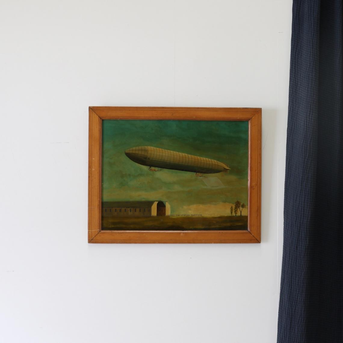 Airship Painting on Glass
