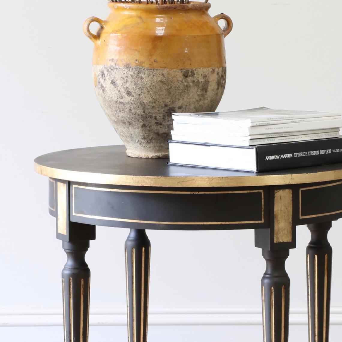 Ebonised Occasional Table