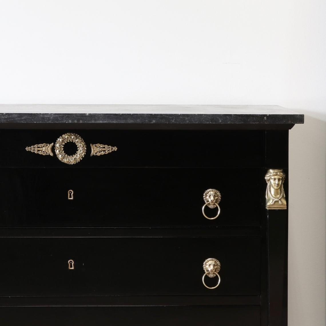 French Ebonised Empire Commode