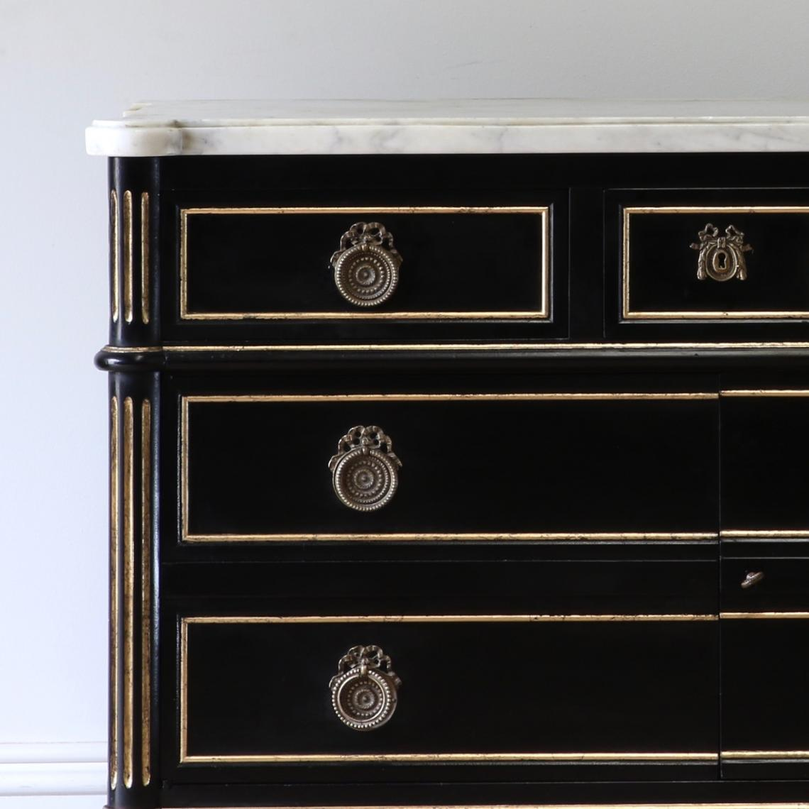 Directoire Commode With Mirrored Interior