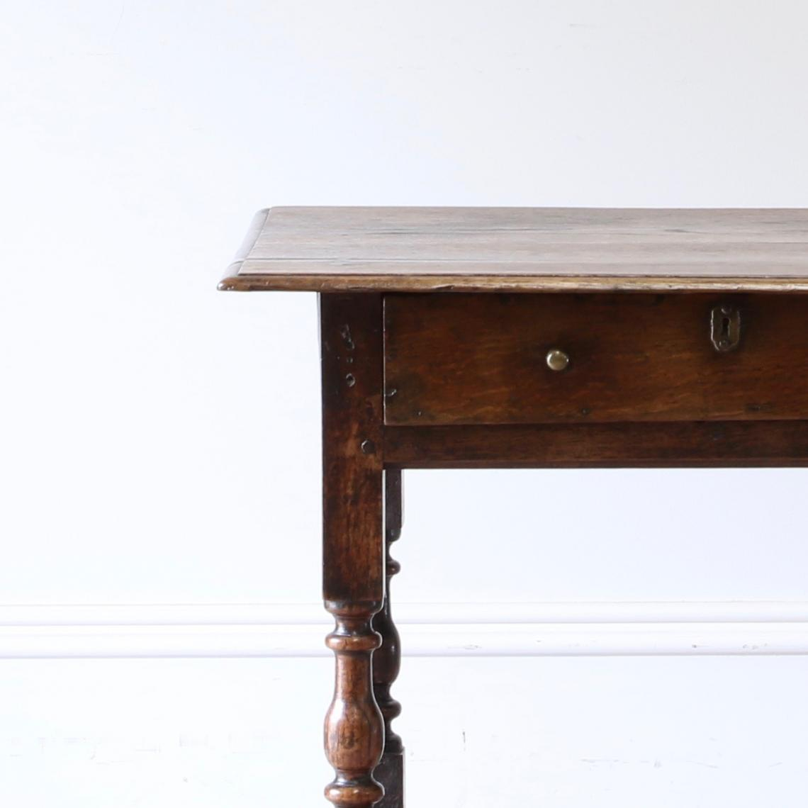 Oak Single Drawer Side Table