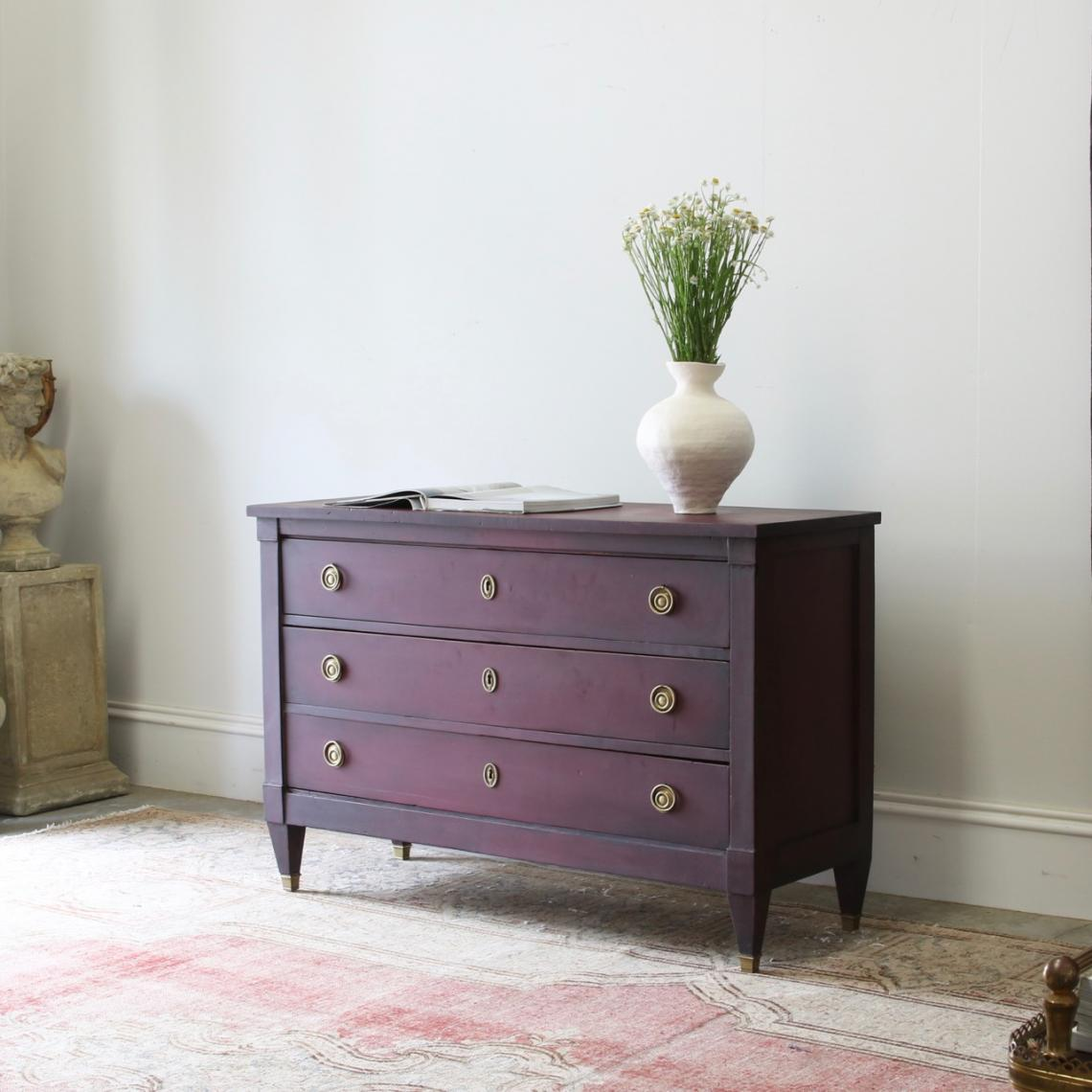 Burgundy Directoire Commode