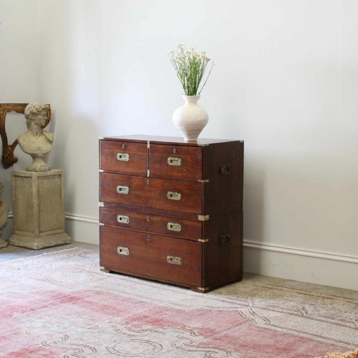 117-84 - English Oak Military Chest