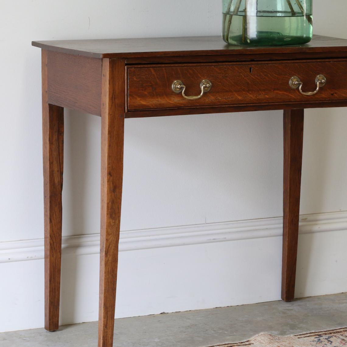 Georgian Oak Side Table
