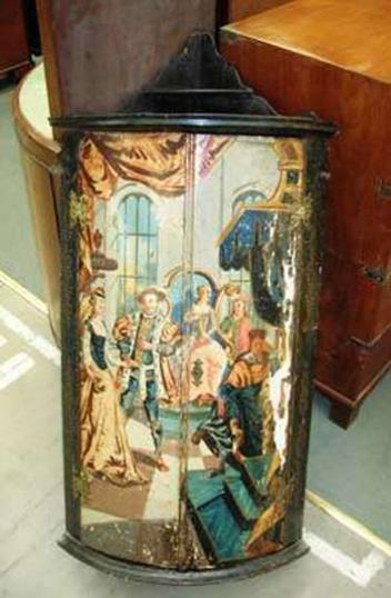 68-27 - Painted Corner Cabinet