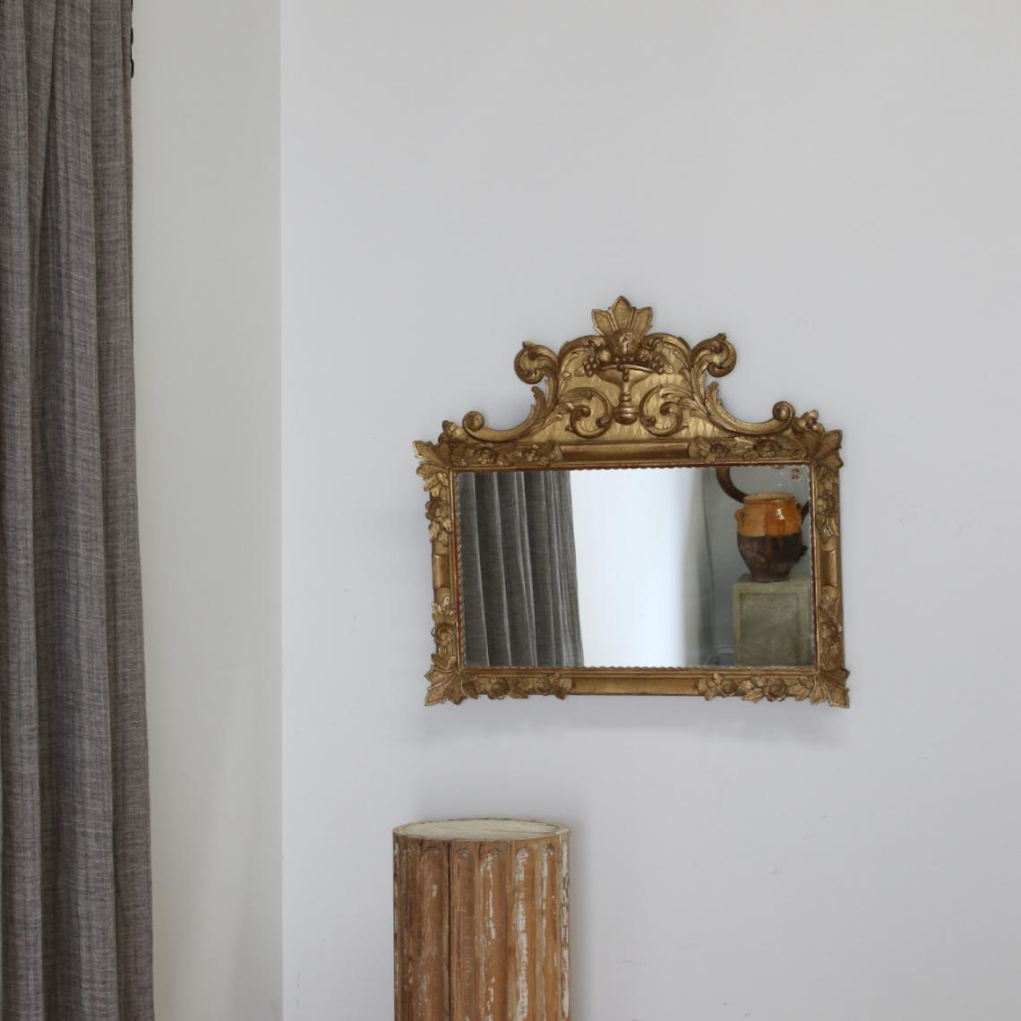 119-20 - Small Landscape Mirror With Crest