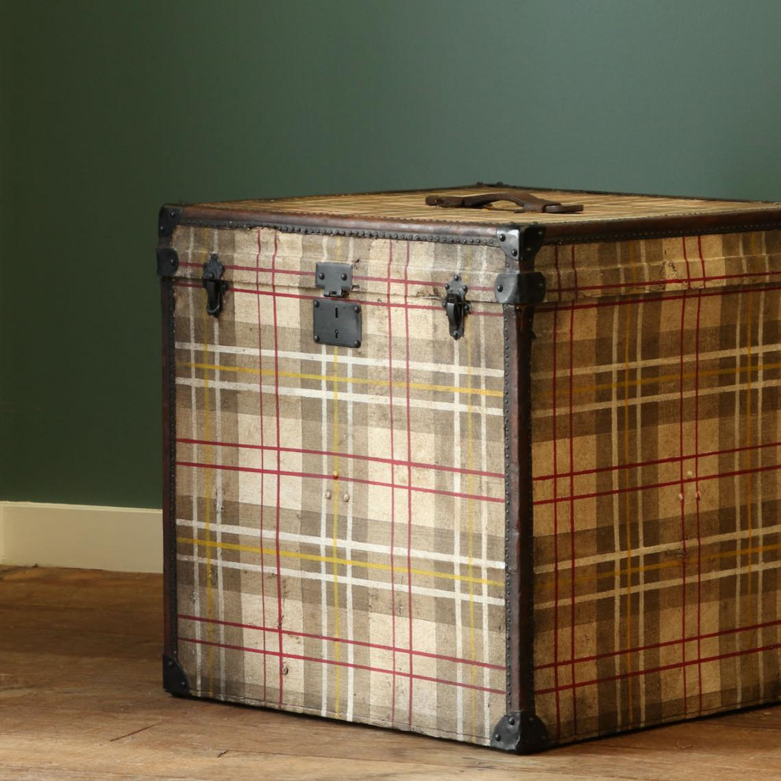 Trunk Finished in McPherson Plaid