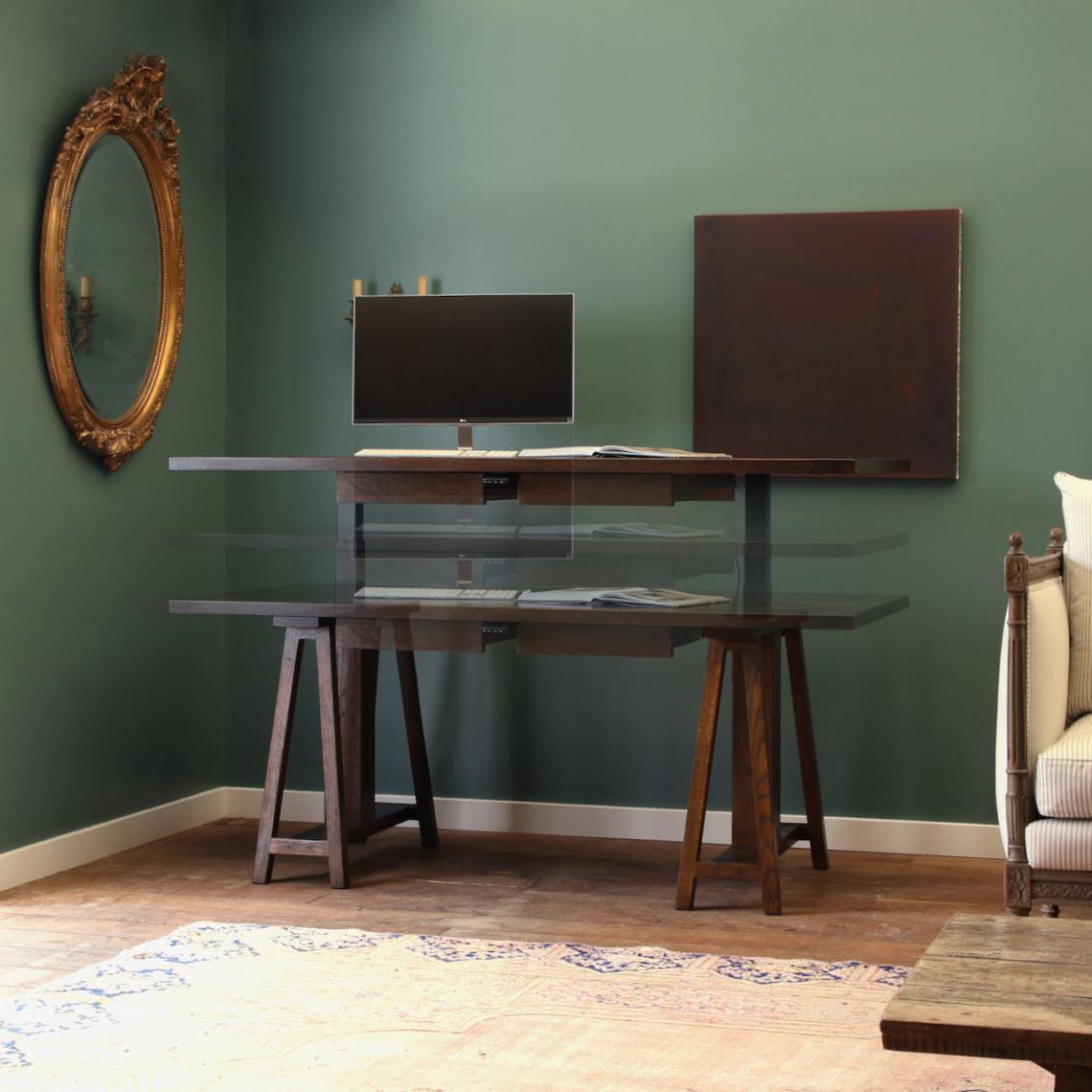 JS Edition Raise & Lower Trestle Desk