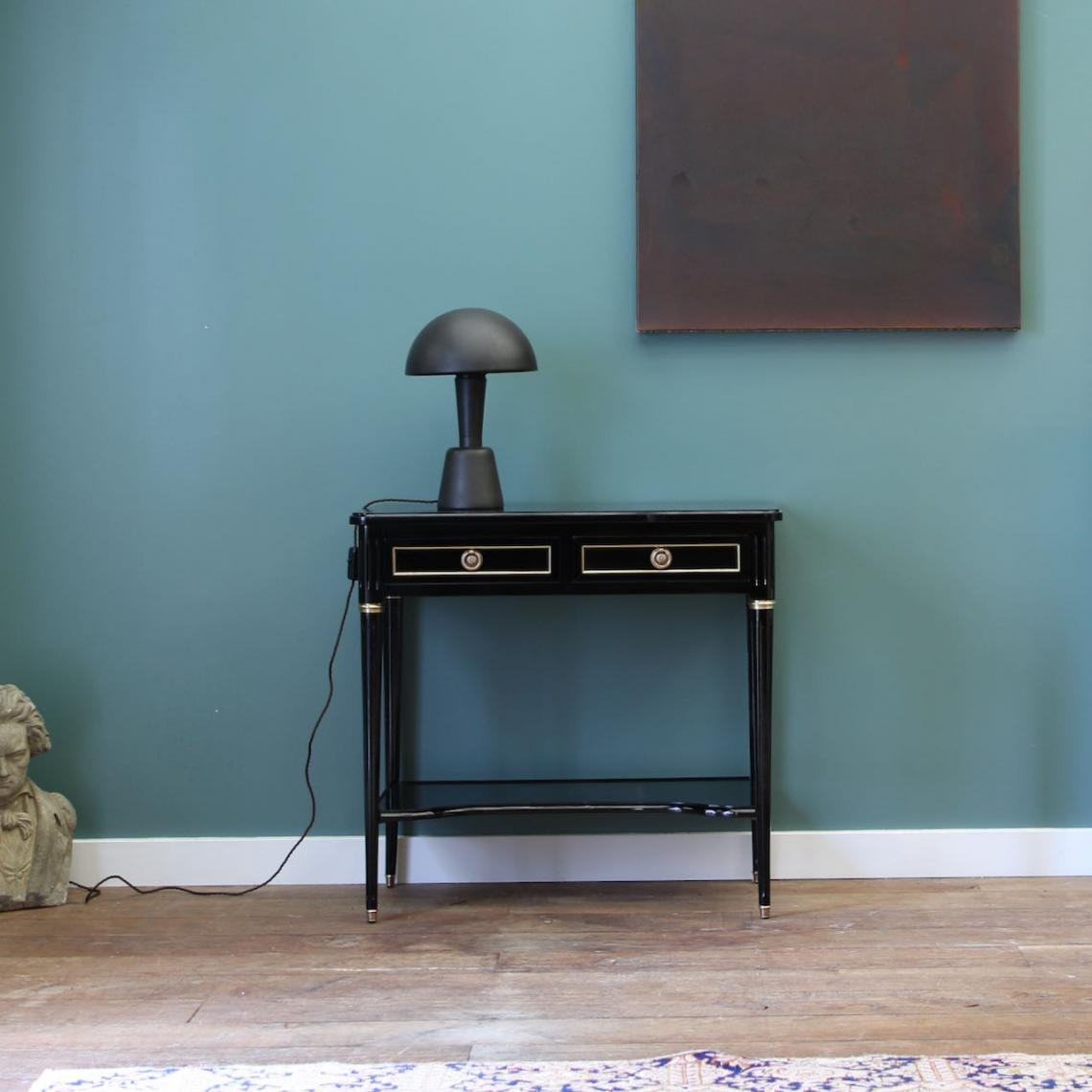 Ebony Directoire Console with Shelf