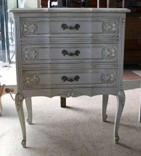 68-97 - French Painted Bedside Cabinet