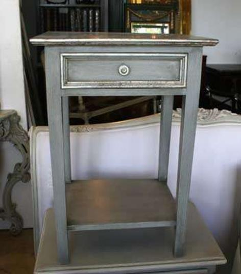 3-55 - Single Silver Gilt Bedside Table