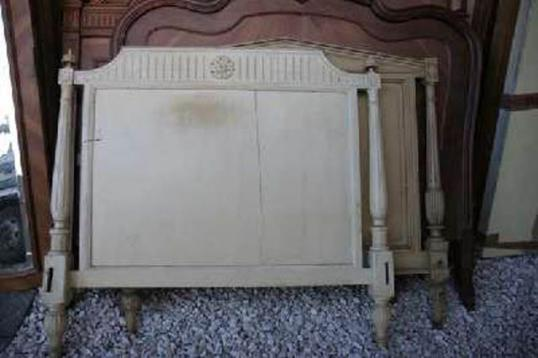 Antique Painted Bed Head
