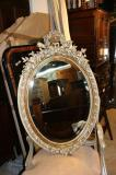 71-17 - Oval Mirror with Elaborate Crest