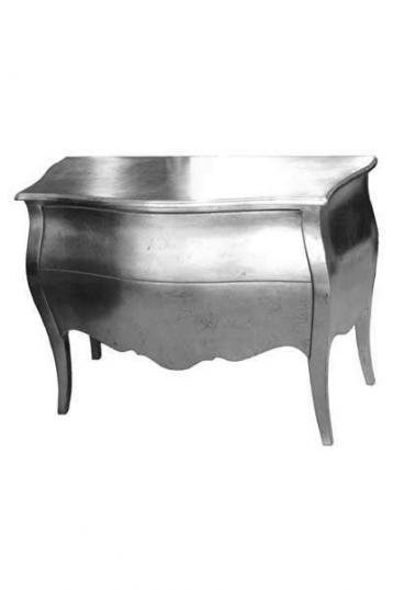 2-01 - Silver Commode with Glass Handles